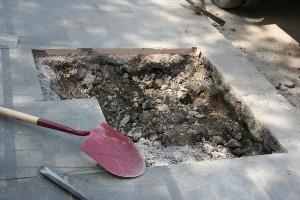 Shovel And Hole